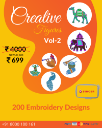 Figure Butta Embroidery Designs Pack for Singer Machine