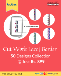 Cut Work Lace & Border Embroidery Designs Pack for Brother Machine