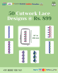 Cut Work Lace & Border Embroidery Designs Pack for Multi Needle Single Head Machine