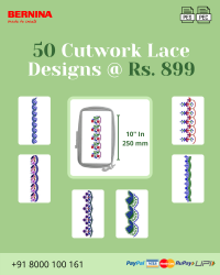 Cut Work Lace & Border Embroidery Designs Pack for Bernina Machine