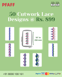 Cut Work Lace & Border Embroidery Designs Pack for Pfaff Machine