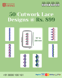 Cut Work Lace & Border Embroidery Designs Pack for Husqvarna Viking Machine