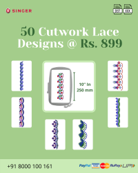 Cut Work Lace & Border Embroidery Designs Pack for Singer Machine