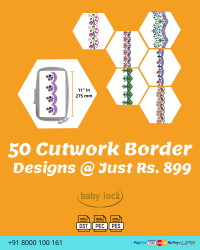 Cut Work Lace & Border Embroidery Designs Pack for Babylock Machine