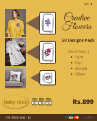 Creative Flowers Embroidery Designs Pack for Babylock Machine