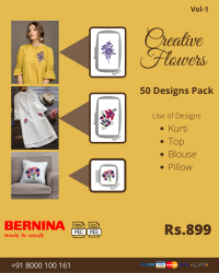 Creative Flowers Embroidery Designs Pack for Bernina Machine