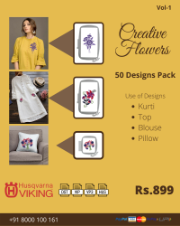 Creative Flowers Embroidery Designs Pack for Husqvarna Viking Machine
