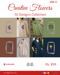 Creative Flowers Embroidery Designs Pack for Singer Machine