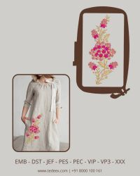 Creative flower embroidery design
