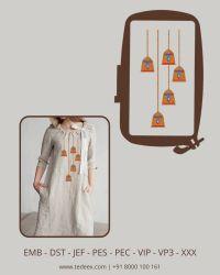 Traingle embroidery design