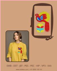 Figure embroidery design