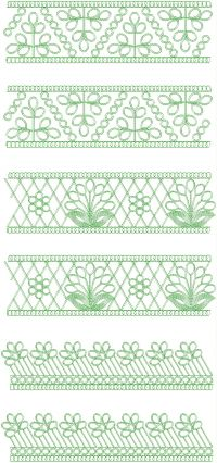 Fancy coding lace embroidery design