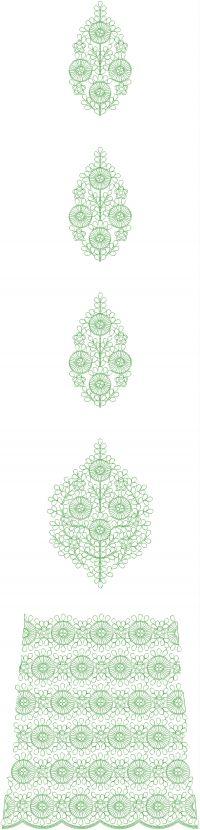 Fancy Lahengha  embroidery design