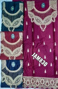 new singal jari suit with lace embroidery design