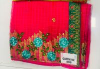 Peking Saree And Lace Embroidery Design