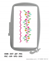 Cut Work Lace Border Embroidery Design