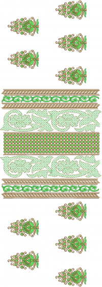 Center Panel Embroidery Design
