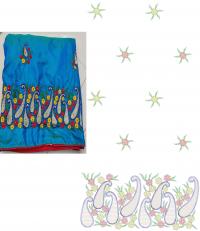 Chain Stitch Saree Embroidery design