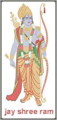 Shree Ram Figure Butta Embroidery Design