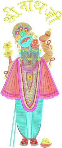 Shree Nathji Figure Butta Embroidery Design