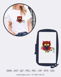 Creative Figure Owl Embroidery design