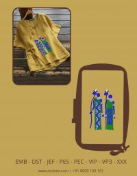 Creative Figure Embroidery Design