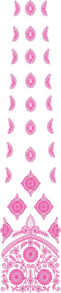 Multi Lehengha Embroidery Design