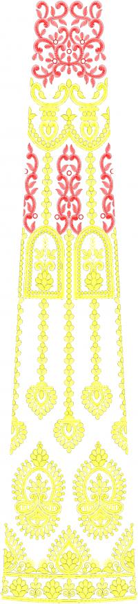Fantastick Multi Lehengha Embroidery Design