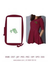 Creative Flower & Leaf  Embroidery Design