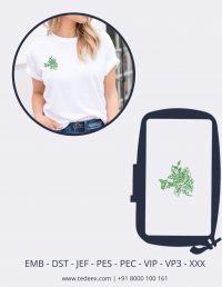 Creative Flower Figure Embroidery Design