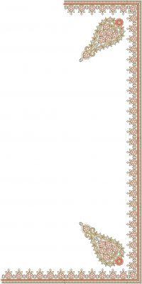 C PALLU  SAREE EMBROIDERY DESIGN