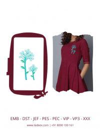Creative Tree Figure Embroidery Design
