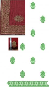single jaree skt-pallu And lace