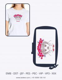 Creative Face Figure Embroidery Design