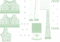 Cording Anarkali Embroidery Design