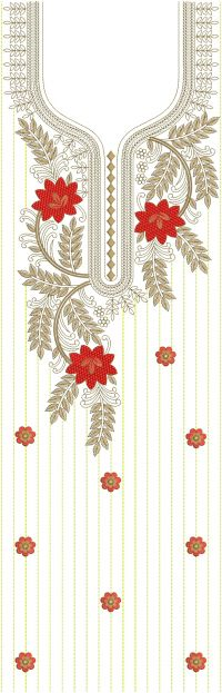 LONG SUIT EMBROIDERY DESIGN
