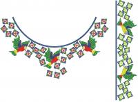 Trendy Designer Blouse Neck & Sleeve Embroidery Design