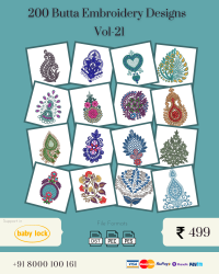 Vol-21, 200 Embroidery Butta Designs for Babylock Machine, Instant Download