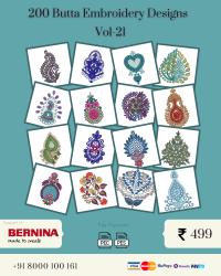 Vol-21, 200 Embroidery Butta Designs for Bernina Machine, Instant Download