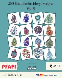 Vol-21, 200 Embroidery Butta Designs for Pfaff Machine, Instant Download