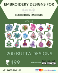 Vol-22, 200 Embroidery Butta Designs for Babylock Machine, Instant Download