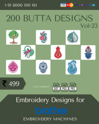 Vol-23, 200 Embroidery Butta Designs for Brother Machine, Instant Download