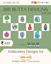 Vol-23, 200 Embroidery Butta Designs for Babylock Machine, Instant Download