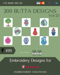 Vol-23, 200 Embroidery Butta Designs for Singer Machine, Instant Download