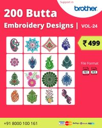 Vol-24, 200 Embroidery Butta Designs for Brother Machine, Instant Download