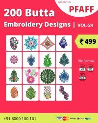 Vol-24, 200 Embroidery Butta Designs for Pfaff Machine, Instant Download