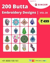 Vol-24, 200 Embroidery Butta Designs for Singer Machine, Instant Download
