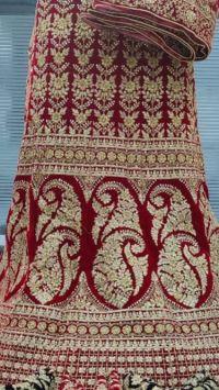 velvet bridal lahengha embroidery design
