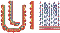 Stylish Deep Neck Blouse Embroidery Design