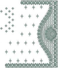 Box & C Pallu Saree Embroidery Design